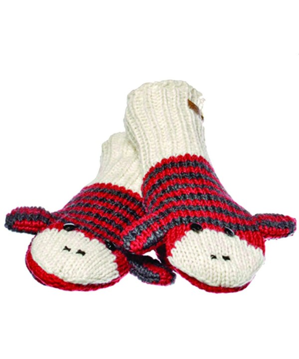 Knitwits Delux Striped Monkey Mittens