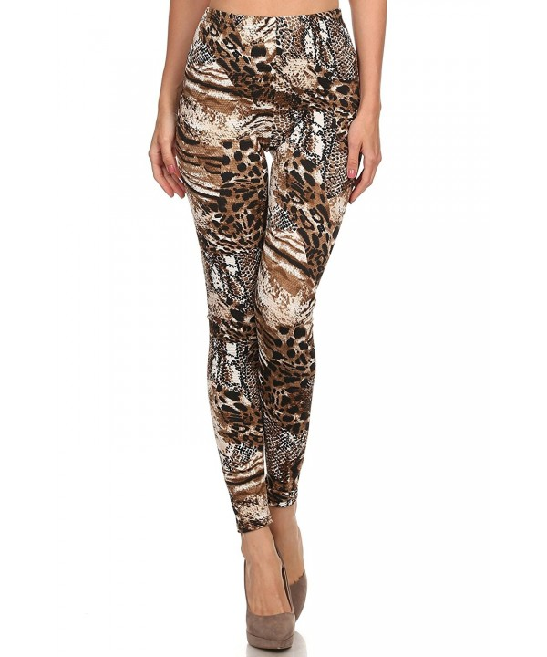 Womens Weather Legging Natural Leopard