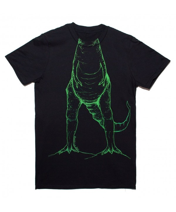 Roobrics Adult T Rex T Shirt Black