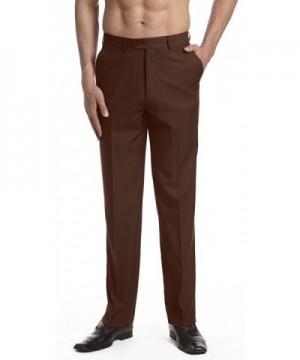 CONCITOR Dress Trousers Slacks CHOCOLATE