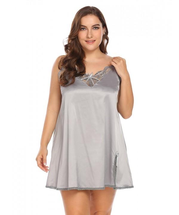 Vpicuo Nightgown Babydoll Chemise Sleepwear