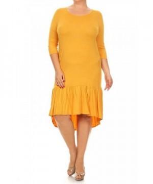 Fashion Stream Womens Jersey Mustard