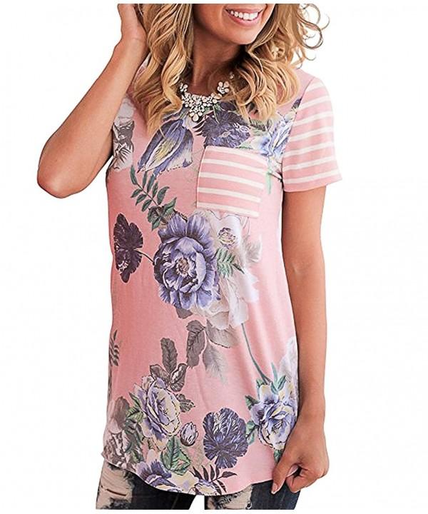 Sanifer Floral Striped T Shirt X Large