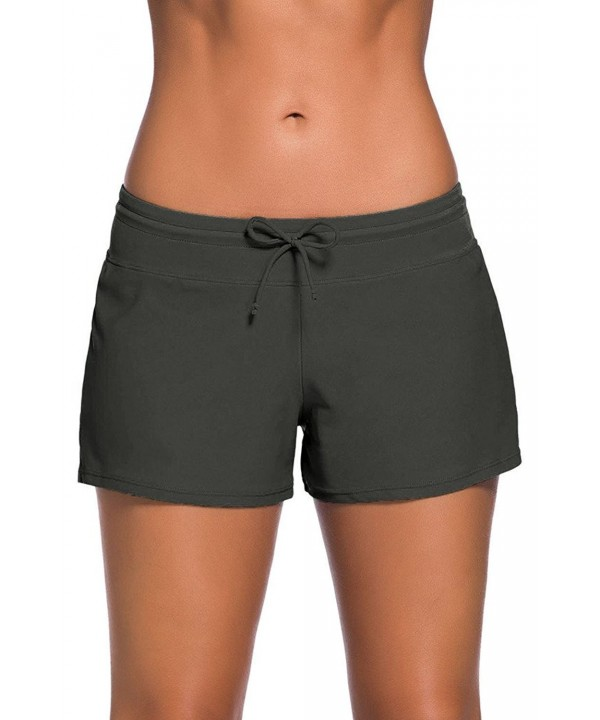 Papaya Womens Boardshorts Solid Adjustable
