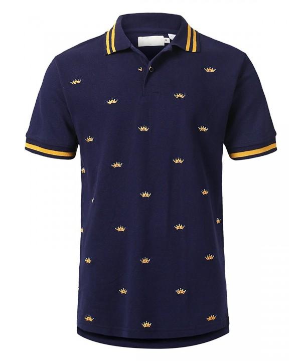 URBANCREWS Hipster Golden Graphic T Shirt