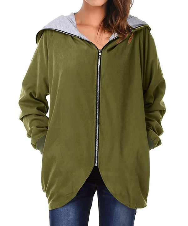 Romacci Womens Hooded Zip up Lightweight