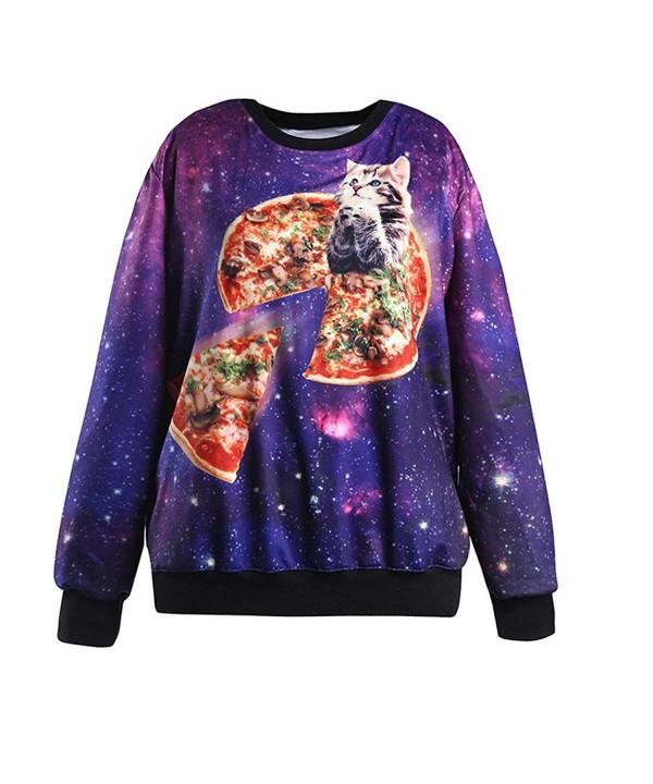 HEYFAIR Womens Galaxy Pullover Sweatshirt