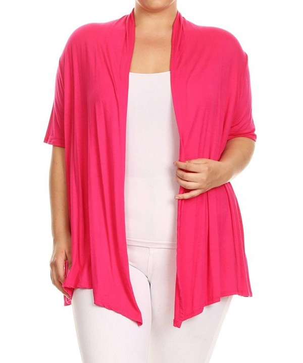 Womens Solid Sleeves Asymmetric Cardigan