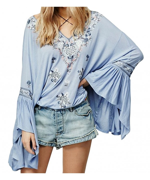 R Vivimos Floral Embroidered Sleeve Casual