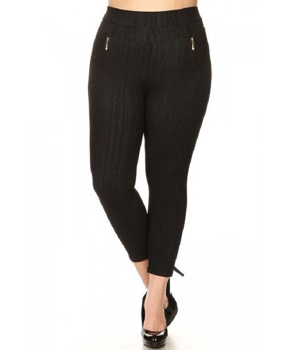 Womens Stretchy Fleece Skinny Jeggings
