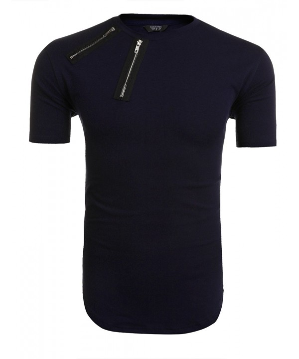 COOFANDY Sleeve Longline Hipster T Shirts