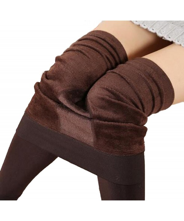 Winter Leggings Velvet Womens Elastic